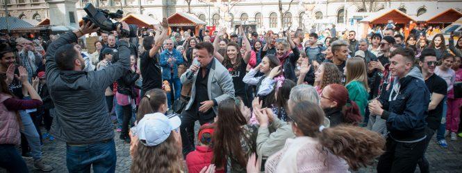 Bucureştiul a dansat la flashmob-ul Eurovision