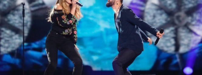 VIDEO: Prima sesiune de repetiţii pe scena Eurovision pentru Ilinca şi Alex Florea